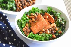 Kale sweet potato salad | Yes, I am Vegan :) Don't for get the chickpea croutons!