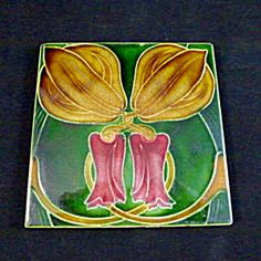 Art Nouveau Ceramic Tile.