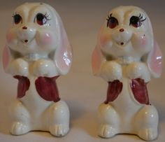 Begging Dogs Salt and Pepper Shakers Japan 1960