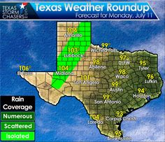 Good Morning! We're looking at a dry stretch this week with hot temperatures in the 90s and 100s. The danger of grass fires is increasing! #txwx   TEXAS WEATHER ROUNDUP: http://texasstormchasers.com/?p=45981