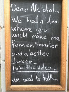 Funny Bar and Cafe Chalkboard Signs.