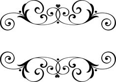 Names Wedding Ornaments. Borders For Paper, Borders And Frames, Stencil Patterns, Embroidery Patterns, Wedding Ornament, Monogram Frame, Border Design, Flourish, Cricut Design