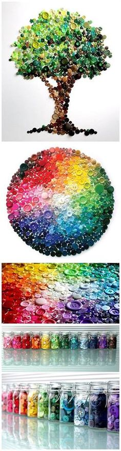 ınnovative and beautiful button crafts and projects (8)