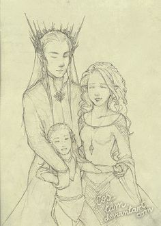 Thranduil, his wife and little Legolas