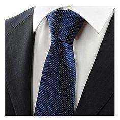 MENDENG Mens Royal Blue 3D Paisley Necktie Tie Clip Pocket Square Cufflinks Set