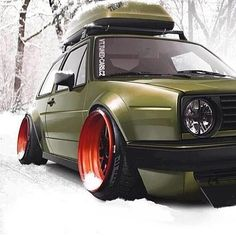 Clean vw golf mk2 ❤️ #vw #golf #mk2 #bagged #vag_crew #low
