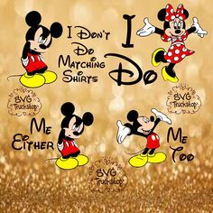 svg disney svg i dont do matching shirts cutting file SVG file Disney trip shirt mickey mouse disney christmas family shirt cutting file set SVG File for cutting machines Cameo or Cricuit Tip: SVGs only work with the designer edition of Silhouettes Studio software, if you do not have