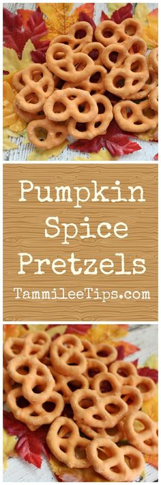 Pumpkin Spice Pretzel Recipe! The perfect fall snack recipe that is so easy to…