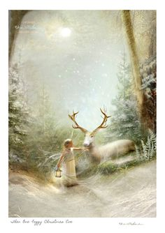 Fairy gift   Christmas Art Print or Ready to hang Plaque or