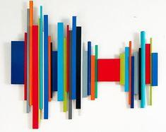 Wood Wall Decor Made-to-Order Soundwave Artwork Modern Modern Artwork, Contemporary Paintings, Abstract Paintings, Abstract Art, Wood Wall Decor, Wooden Wall Art, Zig Zig, Modern Wall Sculptures, Stick Wall Art
