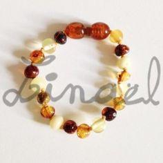 Bracelet d'ambre bébé MULTI-COULEURS