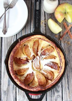 Apple Cinnamon Dutch Babies on www.cookingwithruthie.com is a Holiday Brunch tradition at our house! #walmart #TheHolidayBox #spon