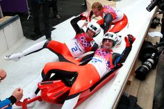 £/ Andreas Linger (R) and Wolfgang Linger of Austria celebrate winning the silver medal during the Men's Luge Doubles (c) Getty Images Olympic Winners, Bobsleigh, Luge, Winter Olympics, Winter Sports, Olympic Games, Sport Outfits, Austria, The Man
