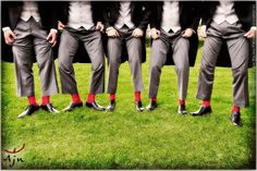 Best men dressing: red socks
