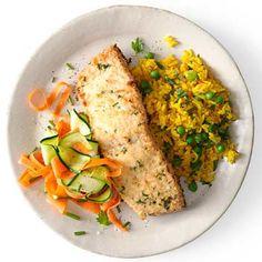 Pecorino-Crusted Salmon - FamilyCircle.com