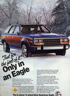 AMC Eagle: the car that spawned lonely Friday nights, ugly prom dates, and peer ridicule for an entire generation.