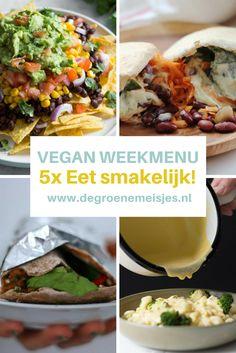 Weekmenu 26 - 30 juni - Another! Vegetarian Recipes Dinner, Vegan Dinners, Vegan Recipes Easy, Whole Food Recipes, Dinner Recipes, Vegan Main Course, Vegan Challenge, Feel Good Food, Plant Based Diet