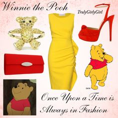 Disney Style: Winnie the Pooh, created by trulygirlygirl on Polyvore