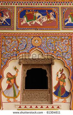 Find Frescoed Havelis Shekhawati Traditional Ornately Decorated stock images in HD and millions of other royalty-free stock photos, illustrations and vectors in the Shutterstock collection. Thousands of new, high-quality pictures added every day. Rajasthani Painting, Rajasthani Art, Indian Paintings, Batik Art, Madhubani Art, Indian Architecture, Krishna Art, Marble Art, Traditional Paintings