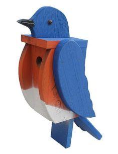 BLUEBIRD BIRDHOUSE - Large Amish Handmade Blue Bird House