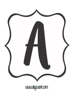Free Printable Black and White Banner Letters