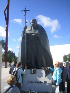 Pope John Paul II - A monument to the Pope at the Shrine of Fatima, in Portugal