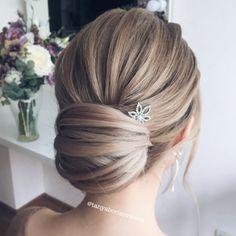 Современнная стильная ракушка, причёска на свадьбу, выпускной и вечеринку. Modern stylish messy French twist
