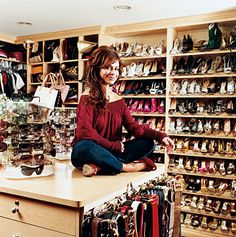 Celebrity Closets: Eva Longria, Nicky Hilton, Paula Abdul, Mariah Carey & Others. - Fashion-O-Lic Walk In Wardrobe, Walk In Closet, Shoe Closet, Master Closet, Closet Works, Glam Closet, Shoe Room, Modern Closet, Spare Bedroom Closets