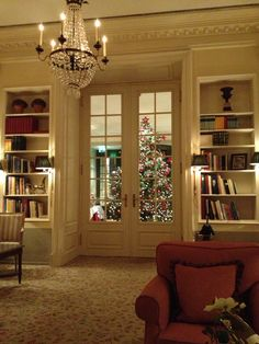 Library in the Brenner's Park Hotel and Spa in Baden-Baden ... Christmas 2013