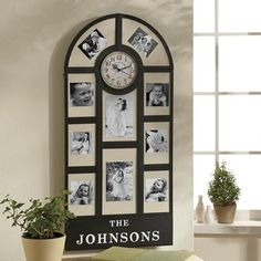Personalized Photo Frame Clock - $59.99