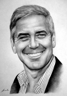 George Clooney by frescasebrava on deviantART ~ traditional pencil art