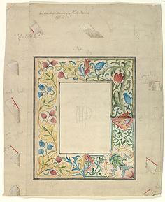 Embroidery design for frame, No. 098