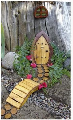 Too Cute! The girls would love this. What a great idea for taking care of a stump in your yard!