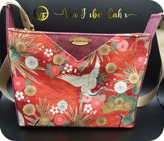 Sac Mambo en coton japonais et liège rose cousu par Virginie - Patron Sacôtin