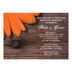 See MoreRustic Orange Daisy Country Couples Wedding Shower Custom Invitationslowest price for you. In addition you can compare price with another store and read helpful reviews. Buy