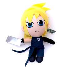 NWT Final Fantasy Cloud Strife Licensed Plush Stuffed Soft Doll Plushie New Tags