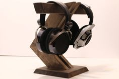 Wood Headphone Stand/ Multiple Headphone by WoodWarmth on Etsy - $98.20 CAD