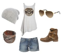 Lässiges Outfit für heiße Tage. Grau muss gar nicht kühl wirken - im Gegenteil! Kombiniert mit gold und braun wird es zum absoluten Hingucker. http://dres.lv/1ECxCLx