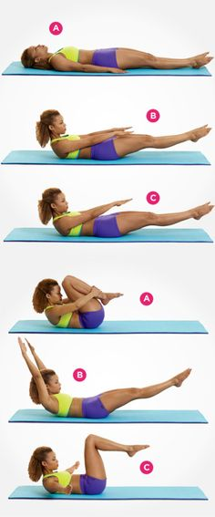 9 Moves For A Flatter Stomach-Get in Shape with These Pilates Exercises.