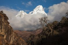 Ama Dablam from Dudh Kosi valley