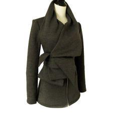 Statement Tie Fleece Knit Sweater Jacket with belt