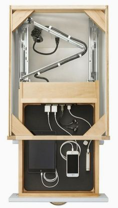Wardrobe Design for electronic or technological gadgets ThingsSimplified interior architecture ideas innovative Garderobe Design, Diy Furniture, Furniture Design, Home Projects, Project Projects, Woodworking Projects, Woodworking Jigs, Woodworking Furniture, Carpentry
