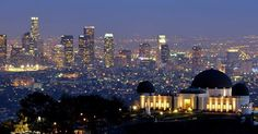 Griffith Park Observatory at night. Los Angeles, California.