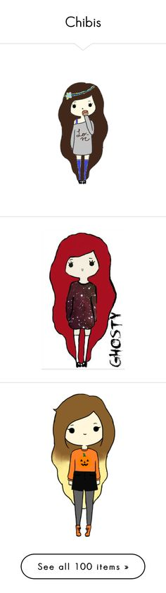 """Chibis"" by thequeenofreading ❤ liked on Polyvore"