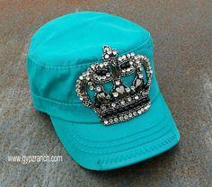 Kids If The Crown Fits Wear It Turquoise Cap www.gypzranch.com