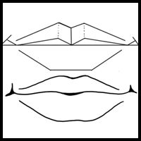 how to draw lips with teeth