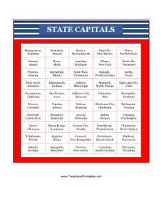 List Of The States In Alphabetical Order Alphabetical Order - South america capital song