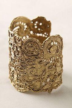 Gold filigreed lace cuff