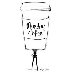 Encantadores recortes como este podrás encontrar en http://www.cafescaballoblanco.com/blog/monday-coffee-megan-hess/