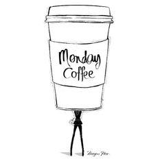 Monday coffee by Megan Hess Illustration